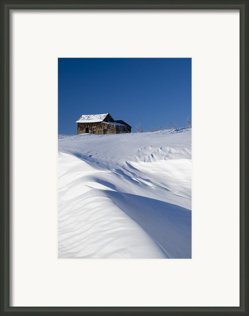 Alberta, Canada Abandoned Farm Building Framed Print By Philippe Widling