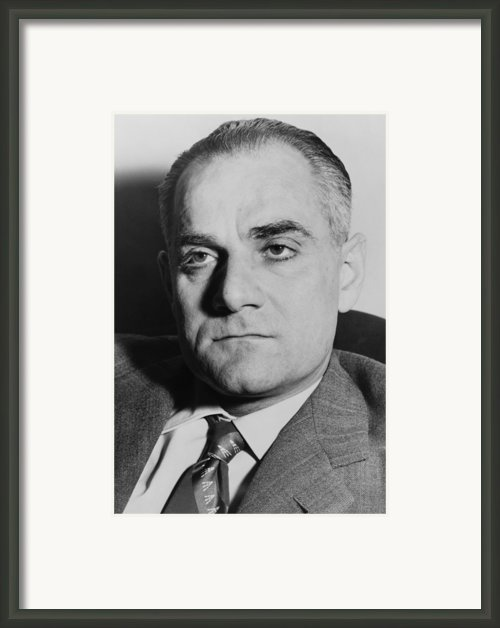 Alberto Moravia, Was An Italian Framed Print By Everett