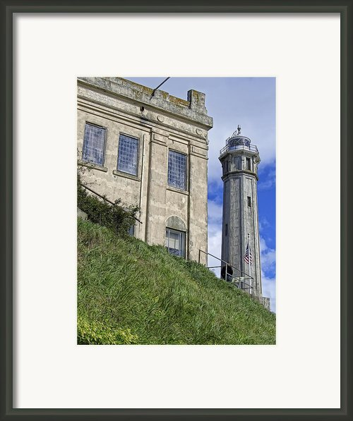 Alcatraz Cell House And Lighthouse Framed Print By Daniel Hagerman