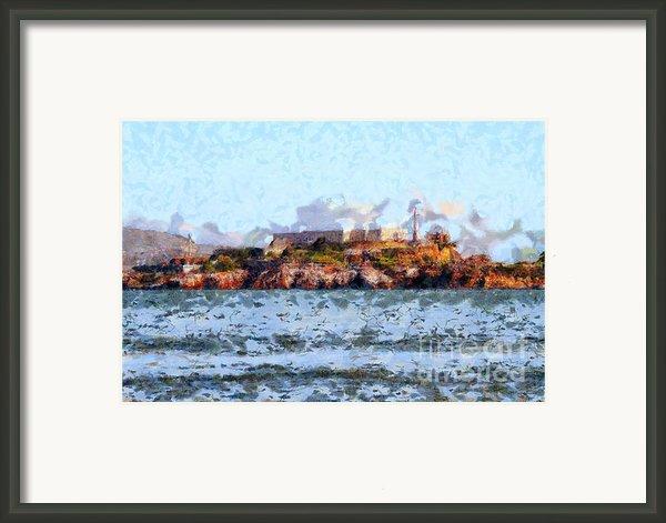 Alcatraz Island In San Francisco California . 7d14031 Framed Print By Wingsdomain Art And Photography