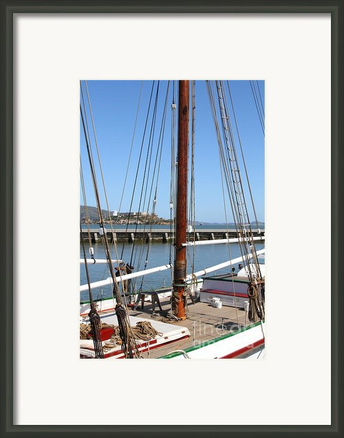 Alcatraz Island Through The Hyde Street Pier In San Francisco California . 7d14147 Framed Print By Wingsdomain Art And Photography
