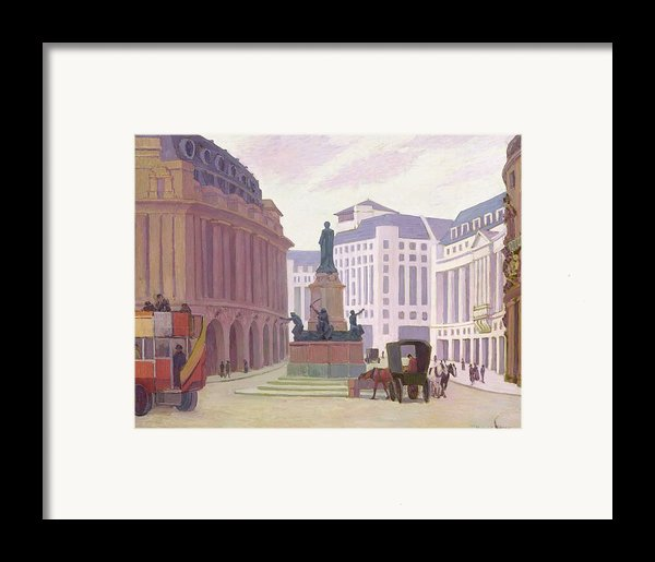 Aldwych  Framed Print By Robert Polhill Bevan