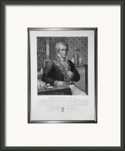 Alessandro Volta, Italian Physicist Framed Print By Omikron