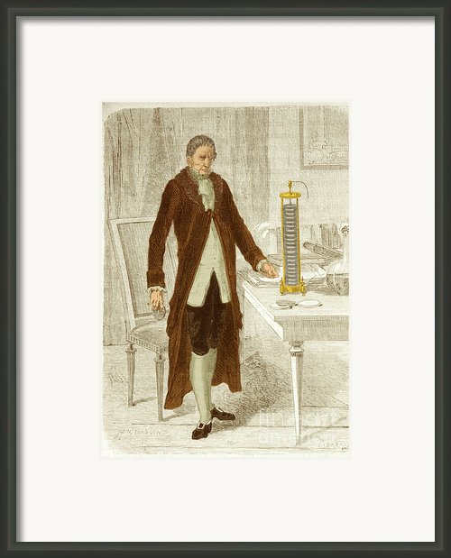 Alessandro Volta, Italian Physicist Framed Print By Science Source