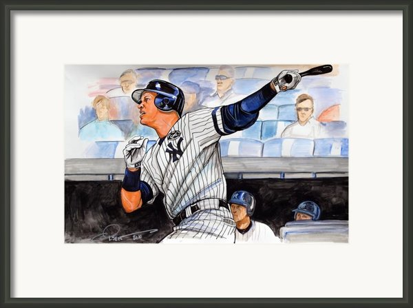 Alex Rodriguez Hits 600th Home Run Framed Print By Dave Olsen