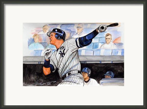 Alex Rodriguez Hits 600th Home Run Framed Print By Dave Olsen
