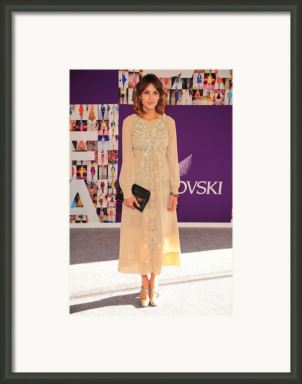 Alexa Chung Wearing A Marc Jacobs Dress Framed Print By Everett