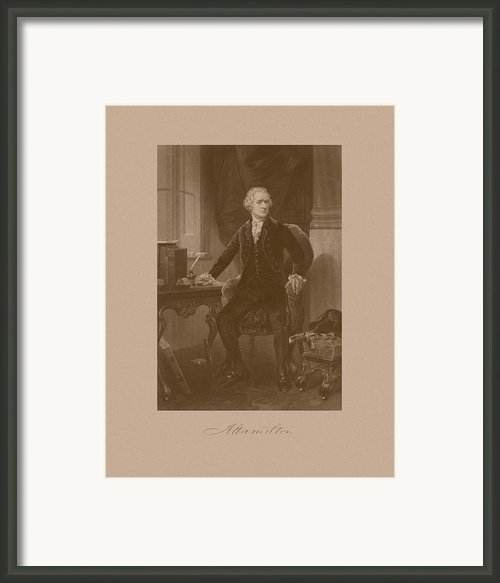 Alexander Hamilton Sitting At His Desk Framed Print By War Is Hell Store