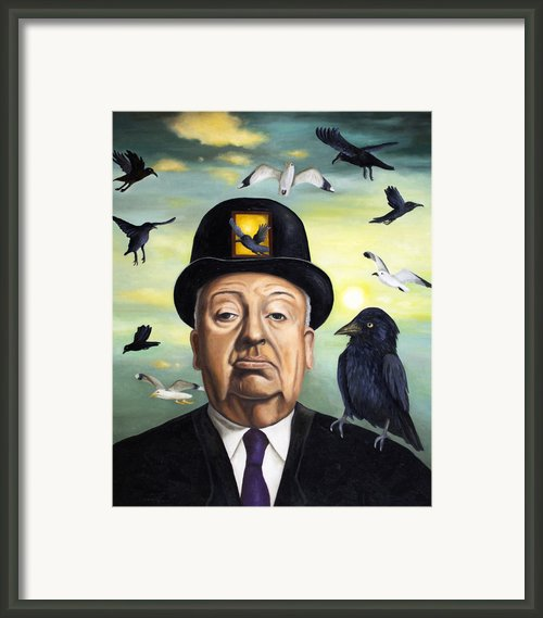 Alfred Hitchcock Framed Print By Leah Saulnier The Painting Maniac
