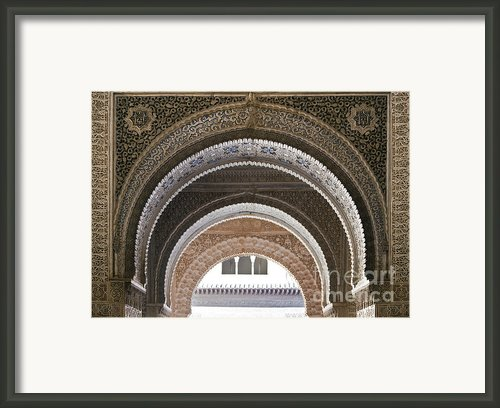 Alhambra Arches Framed Print By Jane Rix
