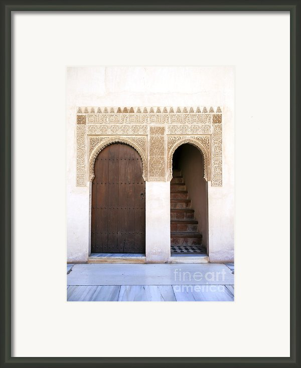 Alhambra Door And Stairs Framed Print By Jane Rix