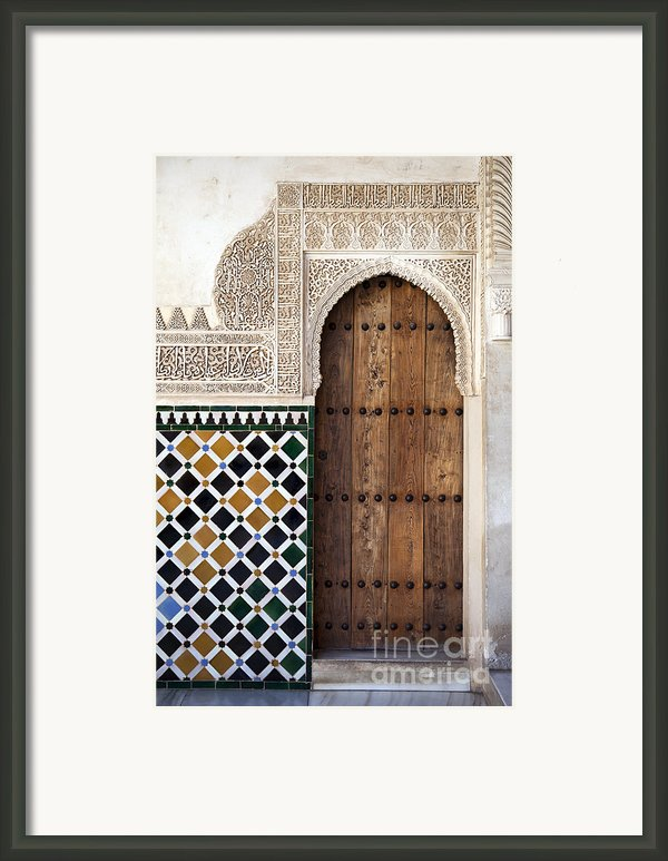 Alhambra Door Detail Framed Print By Jane Rix