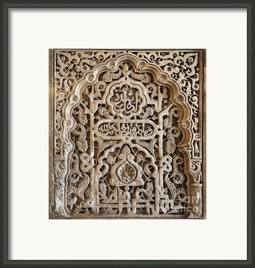 Alhambra Wall Panel Framed Print By Jane Rix