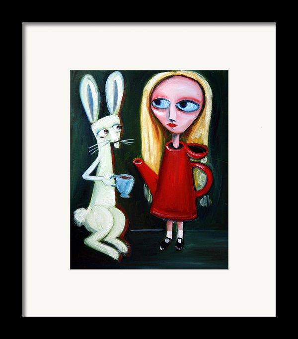 Alice A Tea Pot Framed Print By Leanne Wilkes