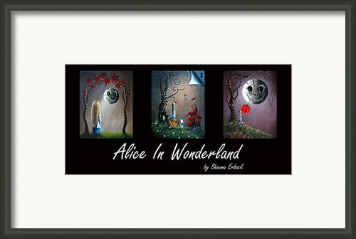 Alice In Wonderland Collection By Shawna Erback Framed Print By Shawna Erback