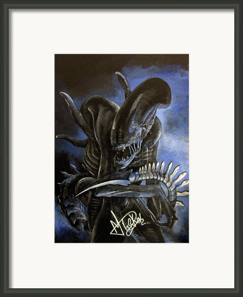 Alien Framed Print By Maria Durkin