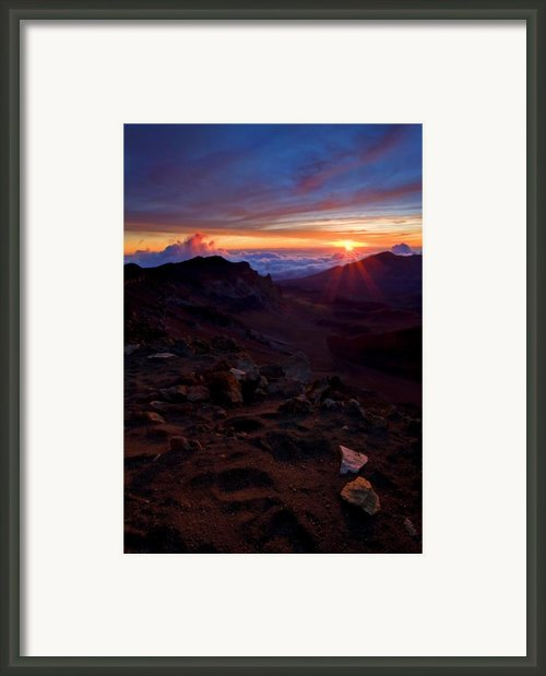 Alien Sunrise Framed Print By Mike  Dawson