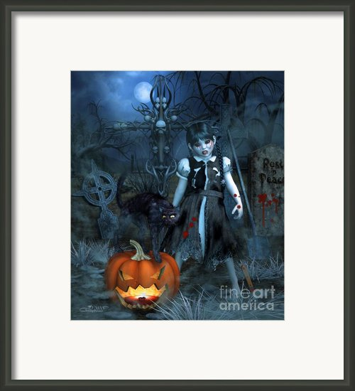 Alive Or Undead Framed Print By Jutta Maria Pusl