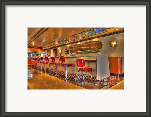 All American Diner 2 Framed Print By Bob Christopher