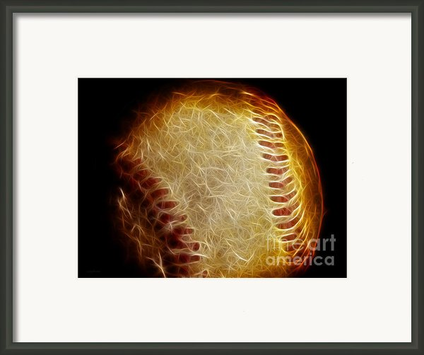 All American Pastime - The Fastball Framed Print By Wingsdomain Art And Photography