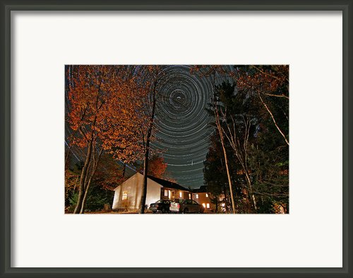 All Night Star Trails Framed Print By Larry Landolfi