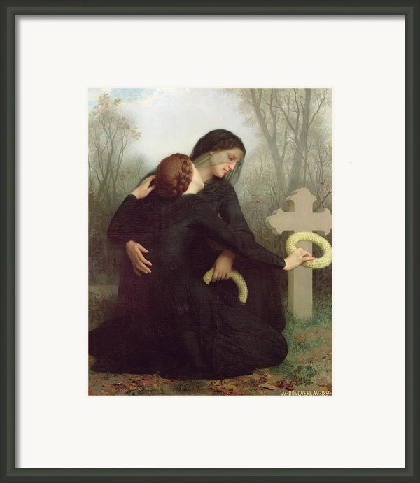 All Saints Day Framed Print By William Adolphe Bouguereau