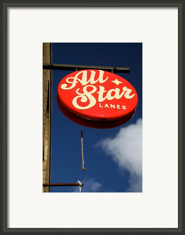 All Star Framed Print By Jez C Self
