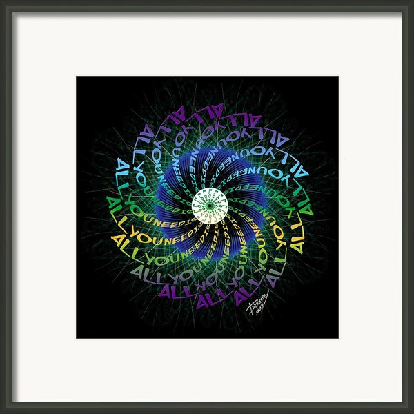 All You Need Is Love 2 Framed Print By Atheena Romney