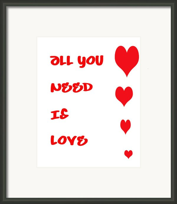 All You Need Is Love Framed Print By Nomad Art And  Design