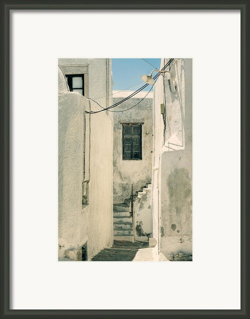 Alley In Greece Framed Print By Joana Kruse