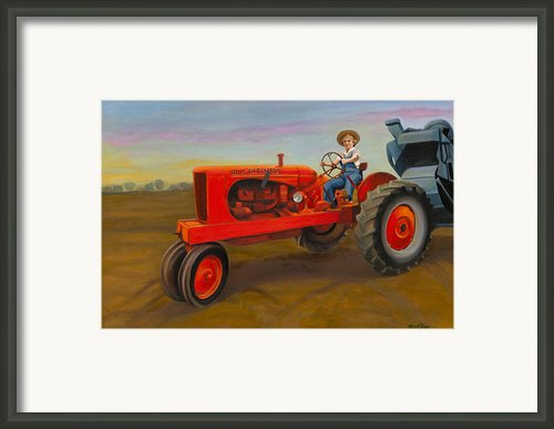 Allis Chalmbers In Wisconsin Framed Print By The Vintage Painter