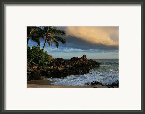 Aloha Naau Sunset Paako Beach Honuaula Makena Maui Hawaii Framed Print By Sharon Mau
