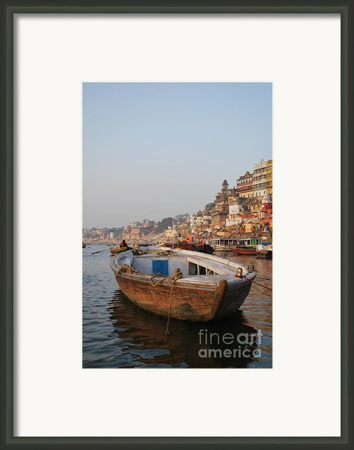 Alone On The Ganges Framed Print By Jen Bodendorfer