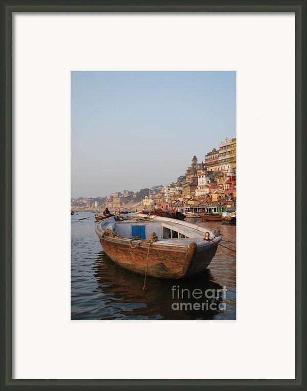 Alone On The Ganges Framed Print By Jen Bodendorfer