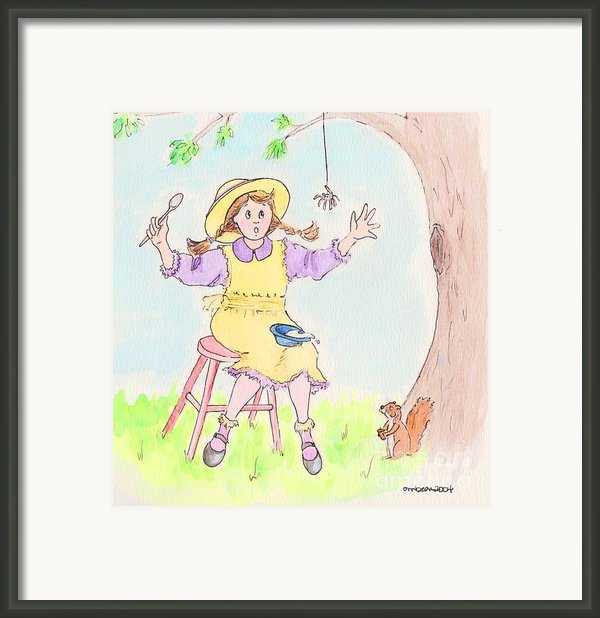 Along Came A Spider Little Miss Muffet Framed Print By Marybeth Friel-patton