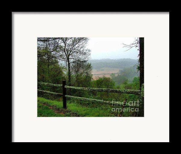 Along The Natchez Trace Framed Print By Julie Dant