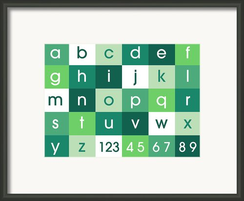 Alphabet Green Framed Print By Michael Tompsett