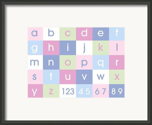 Alphabet Pastel Framed Print By Michael Tompsett