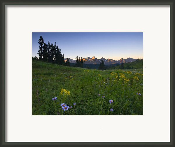 Alpine Dawn Framed Print By Mike  Dawson