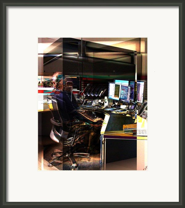 Alternate Cubicle Framed Print By Ron Bissett
