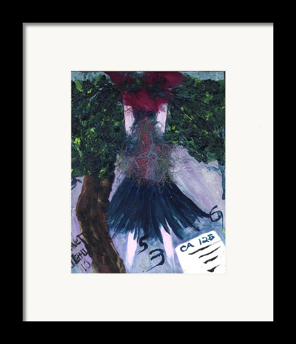 Althea Awaits Her Ca 125 Report Framed Print By Annette Mcelhiney