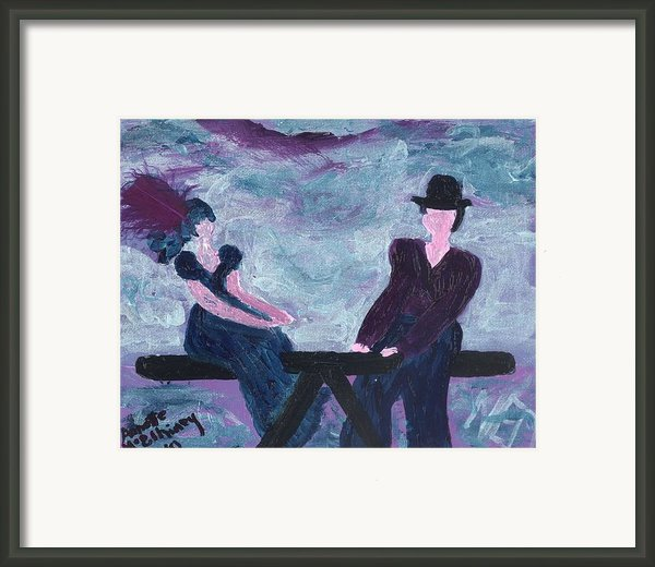 Althea Awaits Test Results Framed Print By Annette Mcelhiney