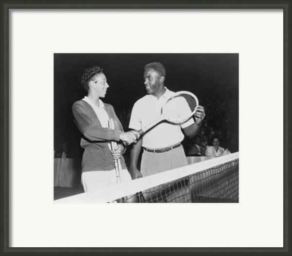 Althea Gibson 1927-2003 And Jackie Framed Print By Everett
