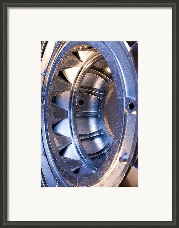Aluminium Aircraft Component Framed Print By Mark Williamson
