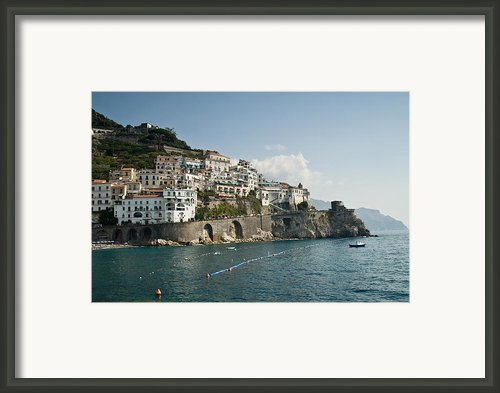 Amalfi Point Framed Print By Jim Chamberlain