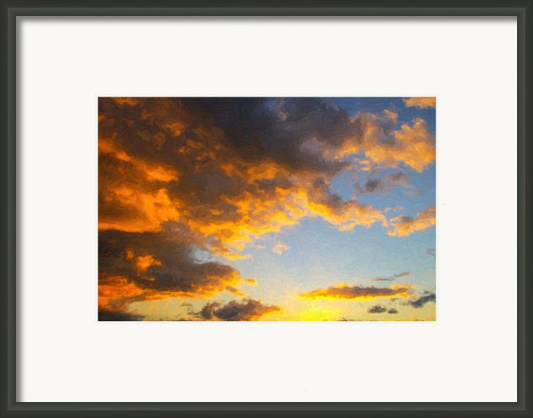 Amarillo Golden Sunset Framed Print By Jeff Steed