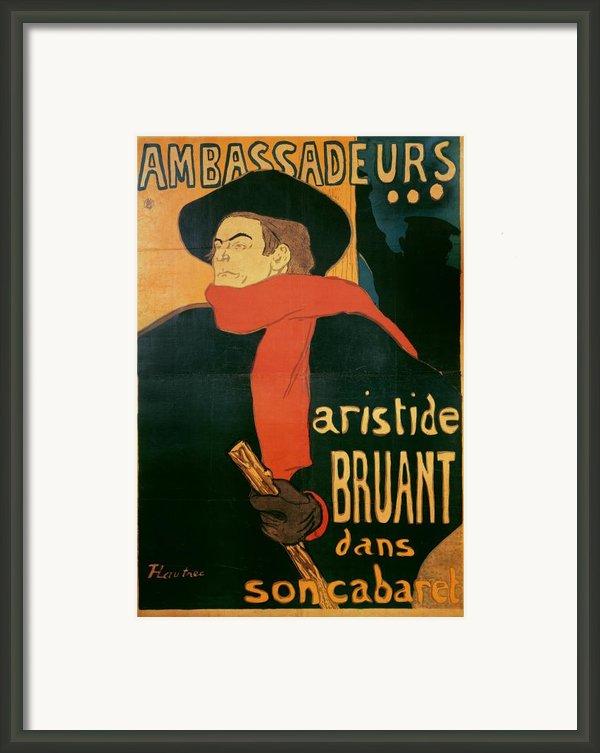 Ambassadeurs Framed Print By Henri De Toulouse-lautrec