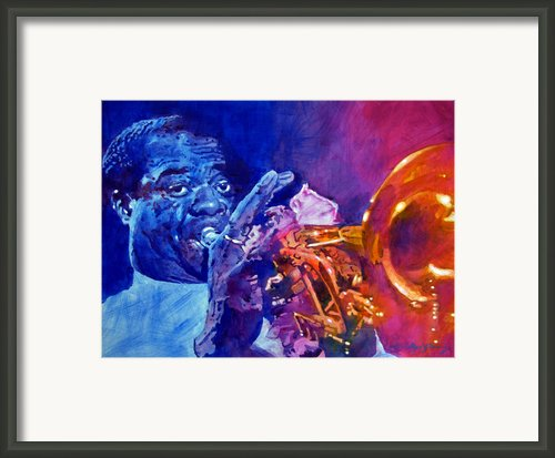 Ambassador Of Jazz - Louis Armstrong Framed Print By David Lloyd Glover