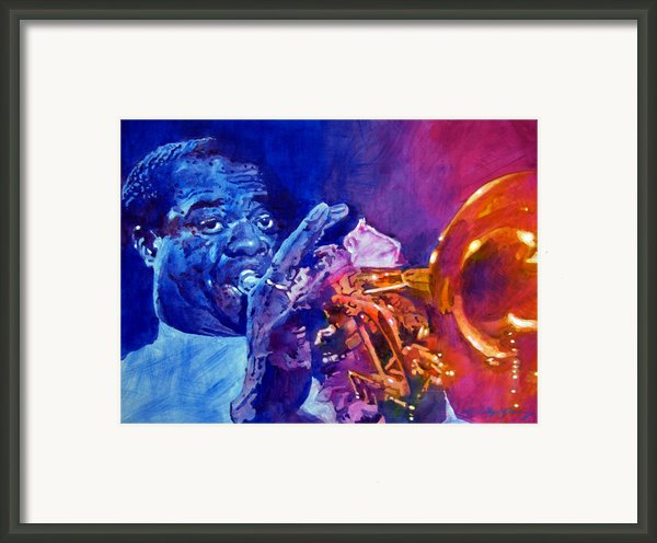 Ambassador Of Jazz - Louis Armstrong Framed Print By David Lloyd Glover