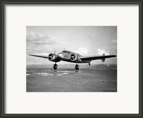 Amelia Earhart Does A Last Minute Framed Print By Everett